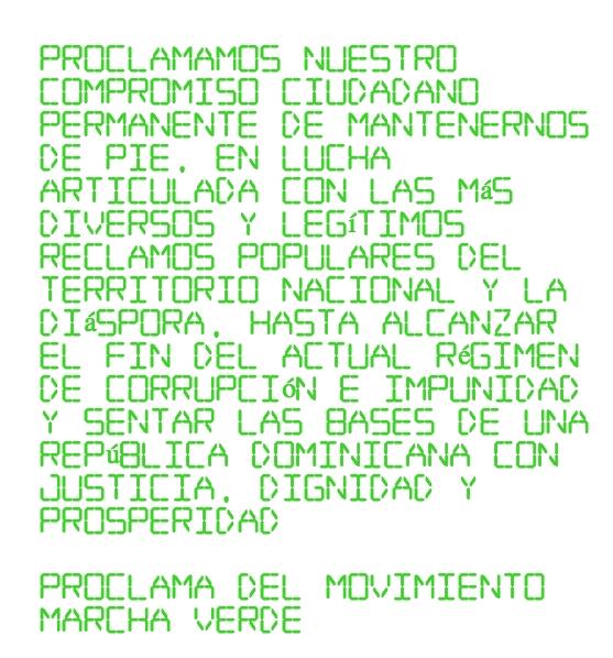 Proclama de Marcha Verde