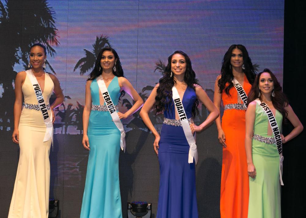 Miss Puerto Plata Aileen Pelegrín, Miss RD US Lía Rossis, Miss Duarte Yoency Paulino, Miss Montecristi Angelina Bejarán.