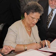 Michelle Duvivier Pierre Louis. Fuente:  Wikipedia.