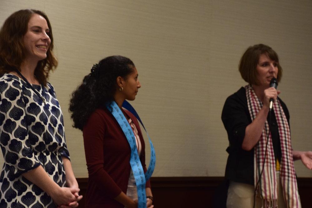 Bronwen Maxson, Betsaida Reyes, and President Suzanne Schadl/Photo: ESENDOM.