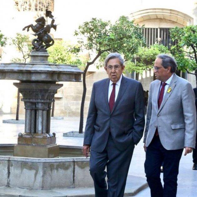 Cuauhtémoc Cárdenas y Quim Torra. Foto: @quimtorra via  ElNacional.Cat