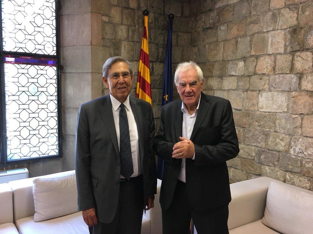 Cuauhtémoc Cárdenas y Ernest Maragall. Foto:  Exteriors Catalunya