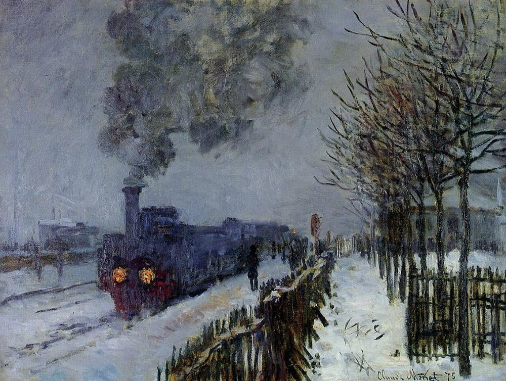 """Train in the Snow"" by Claude Monet"