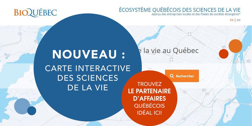 Découvrez l'écosystème québécois des sciences de la vie