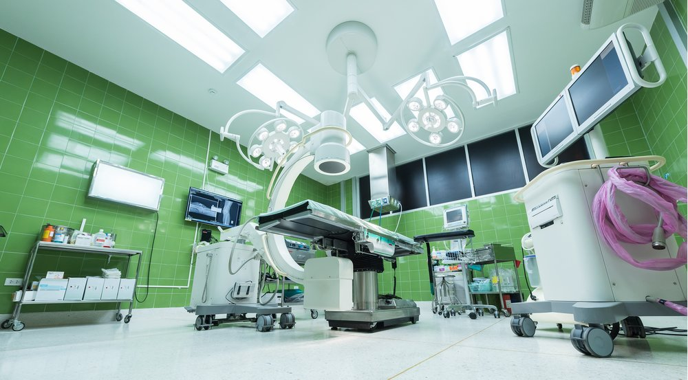Florescent lighting is the only lighting used in hospitals.