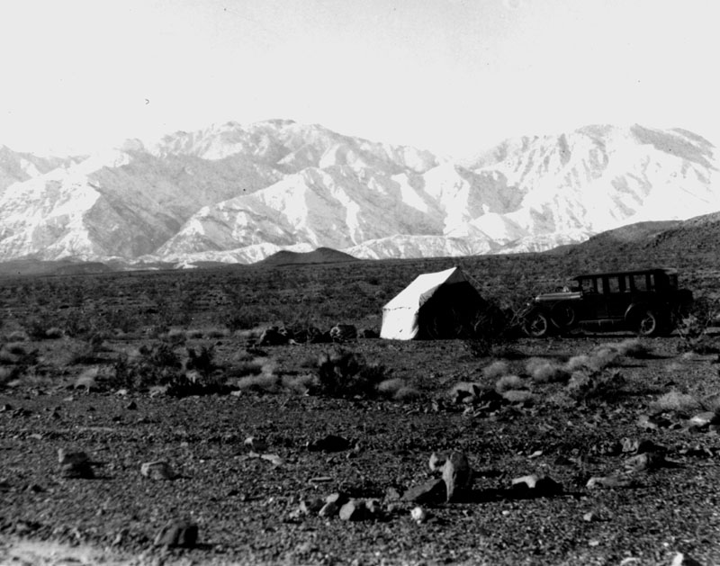 Saline Valley Camp, ca. 1937, courtesy of the University of California Museum of Paleontology
