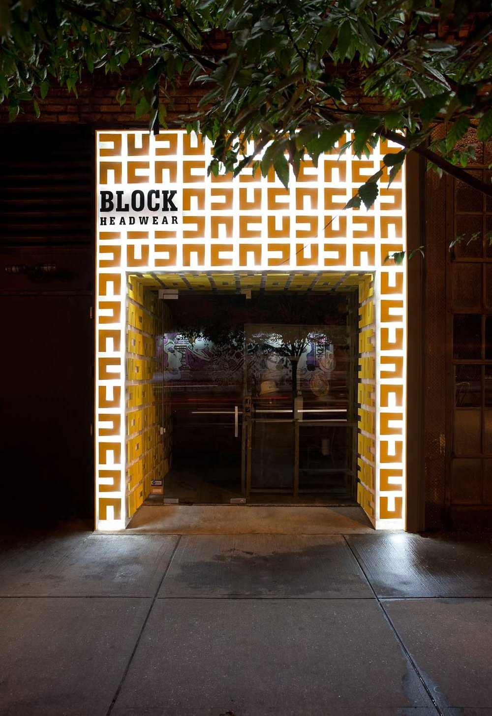 Block Headwear Storefront Design