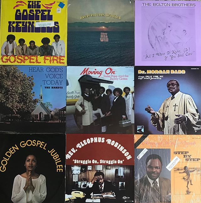 ⛪ 🎤 🎸 ⛪ Just scooped a nice Gospel collection! Swipe for a detail shot of the airplane Jesus bought Sister Lucille Pope. All are unplayed stock condition from an old shop in South Seattle 'Ollie's Gospel Corner' These will be going out at 5:00 today as well. Thx the homie @eardoctorumz for handling dis one #gospel #soul #newarrivals #gospelkeynotes #daybreakrecords #vinyligclub