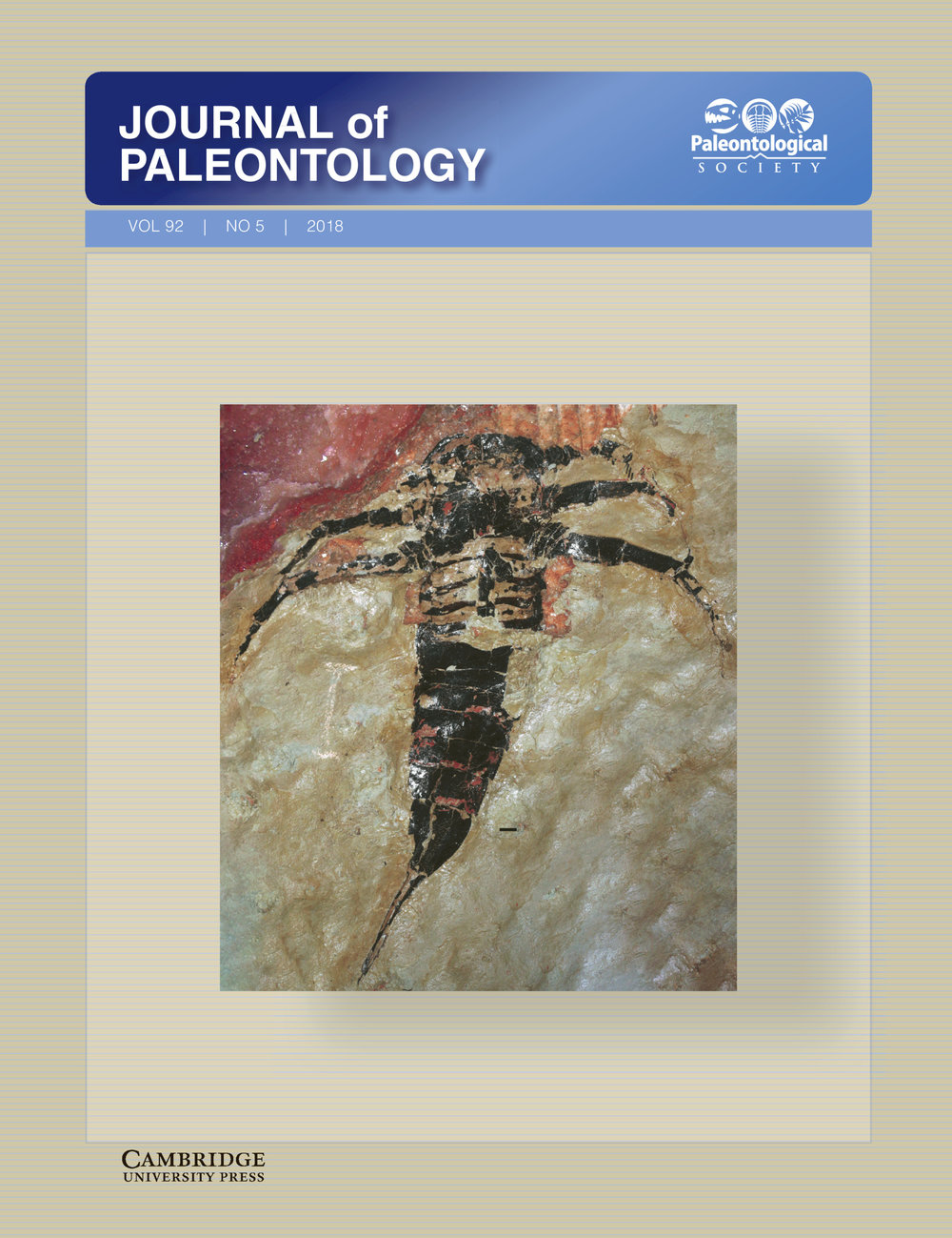 Soligorskopterus  on the cover of  Journal of Paleontology