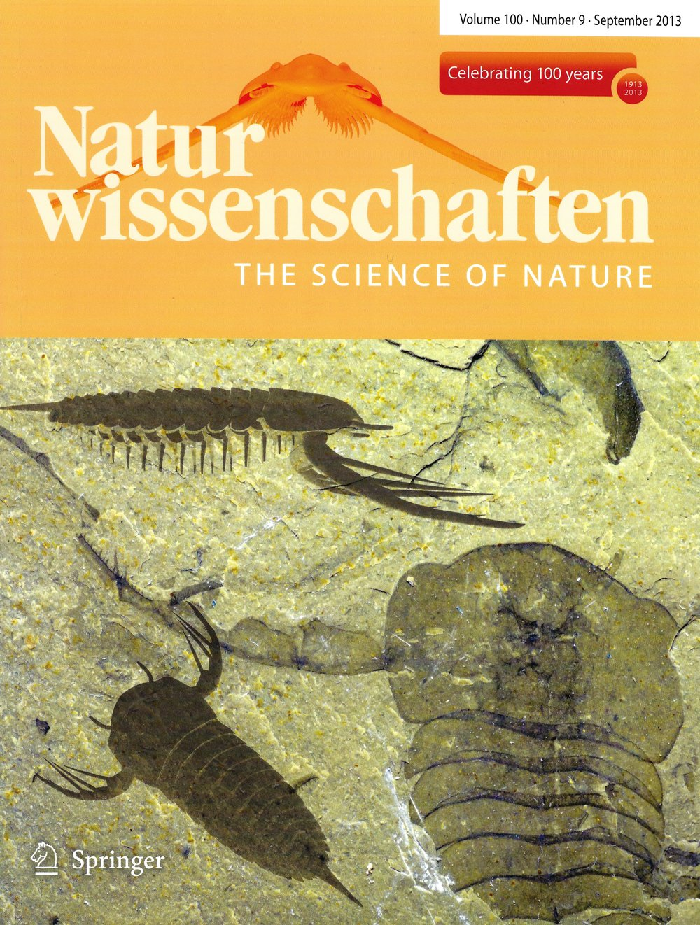 Kodymirus  on the cover of  Naturwissenschaften