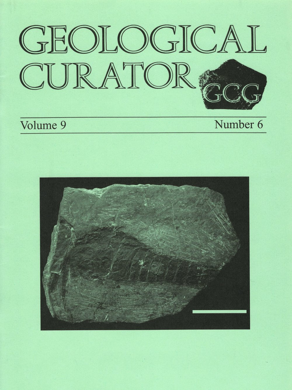 Erettopterus  on the cover of  Geological Curator