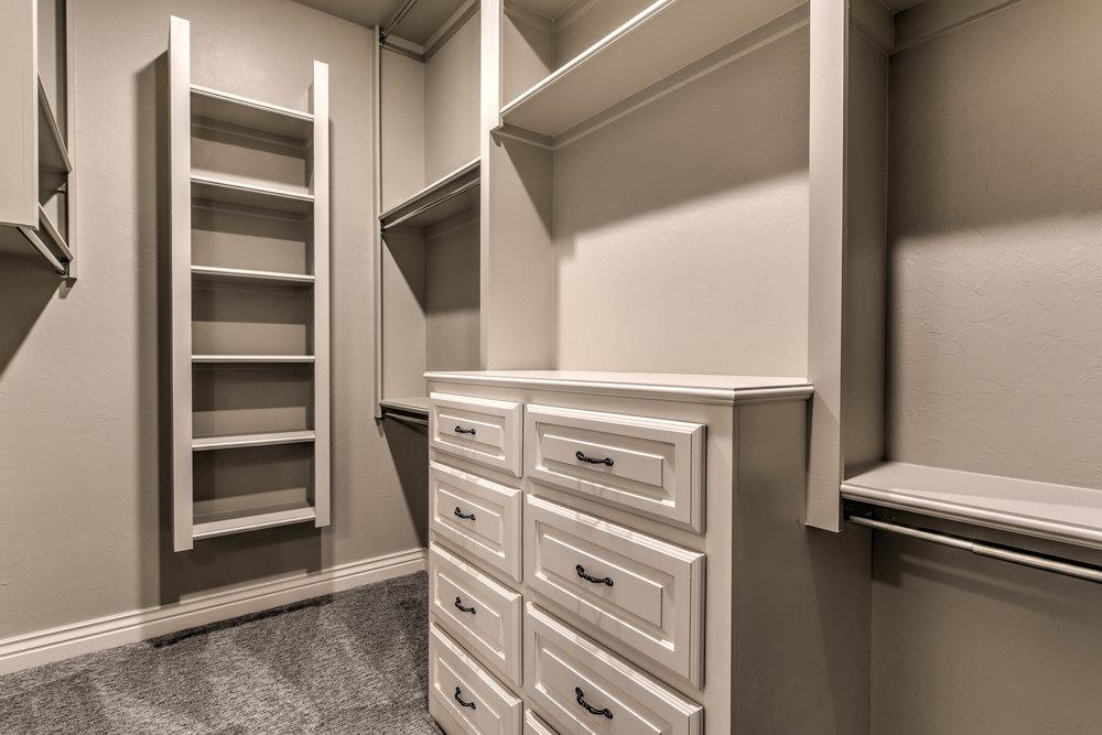 White Shelving Closet