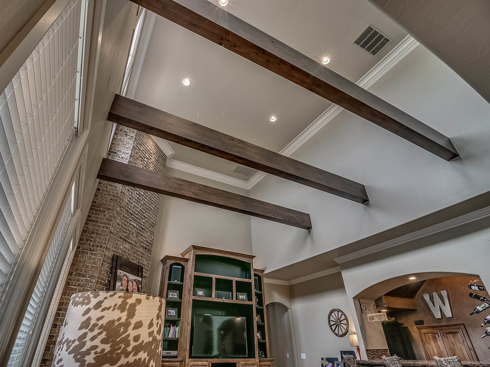 Exposed Beam Living Room