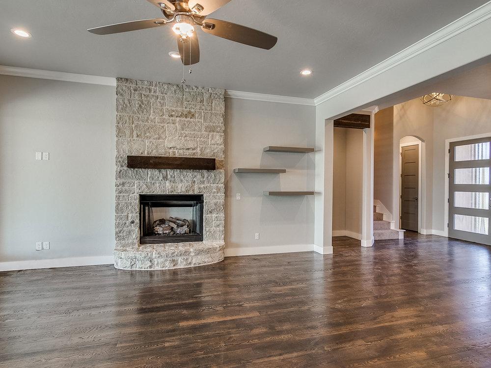 Living Room Custom Shelving
