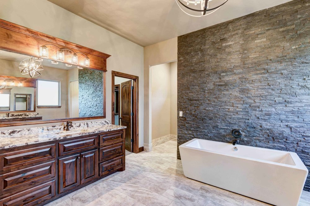 Master Bathroom with Stone
