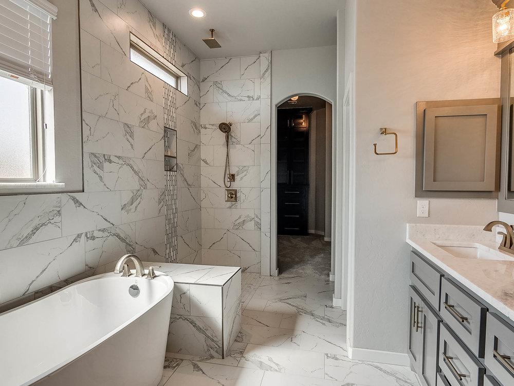 Open Shower Master Bathroom
