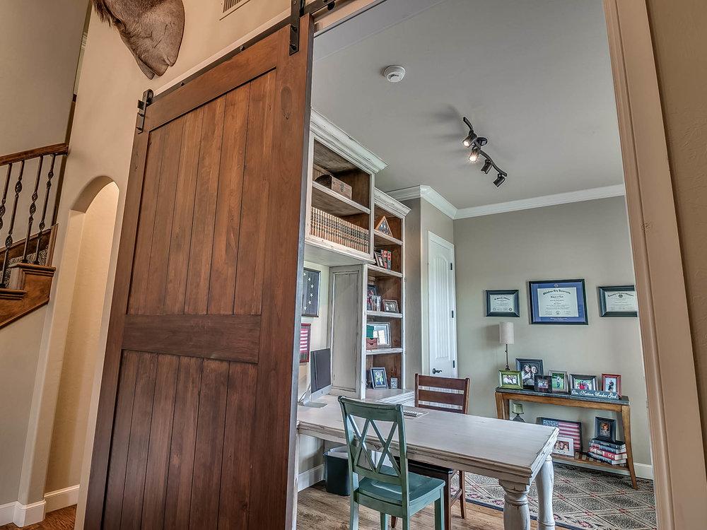 Front Office with Barn Door