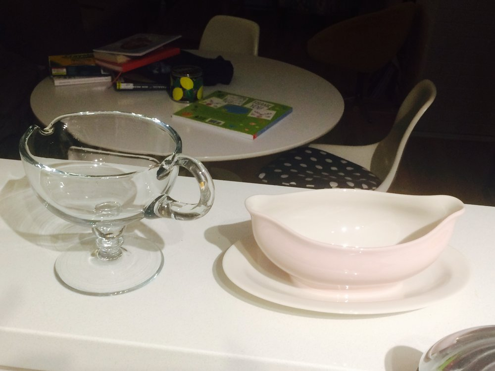 I am the proud owner of not one, but two gravy boats.  One is plenty, two is...err...nevermind.