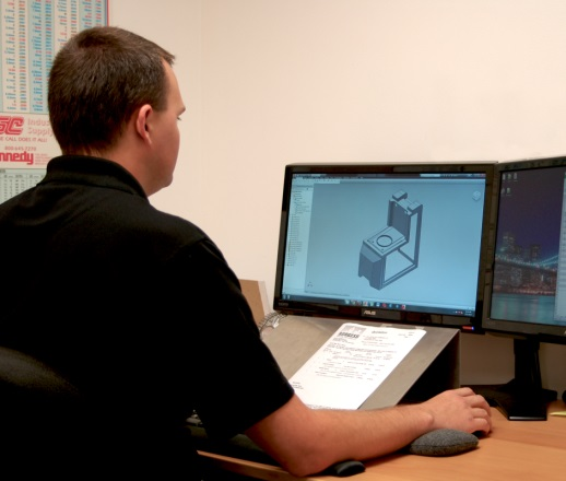 Your project begins on the computer. Our designers and engineers create your project according to specifications using the latest state-of-the-art technology.