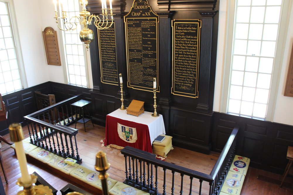 Colonial altar, view from the pulpit