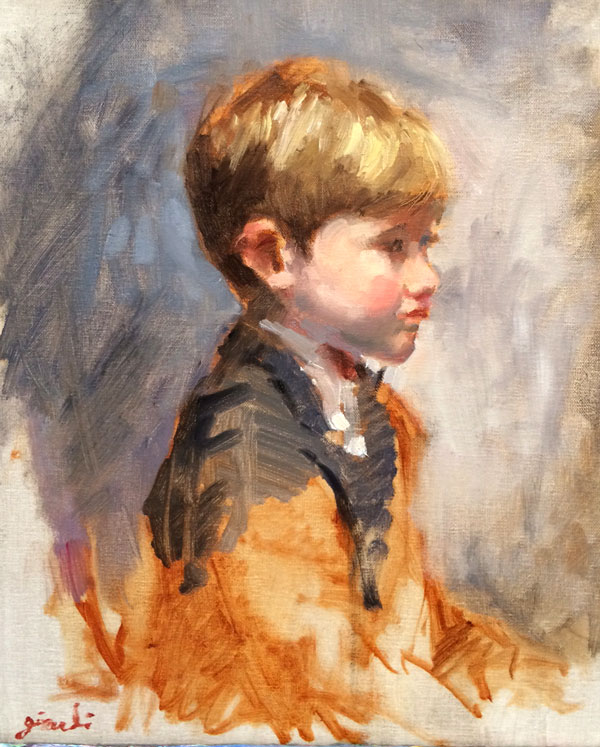 Portrait Sketch of Boy