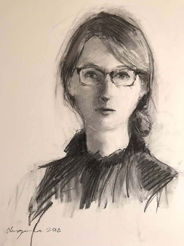 Self portrait sketch at 28