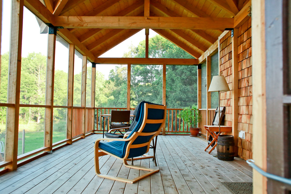 exterior renovation & new Porch,Durham, NH