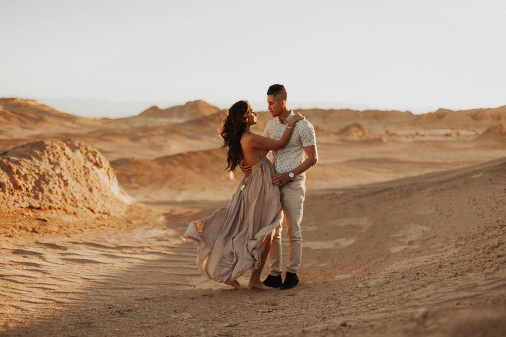 desert dunes engagement