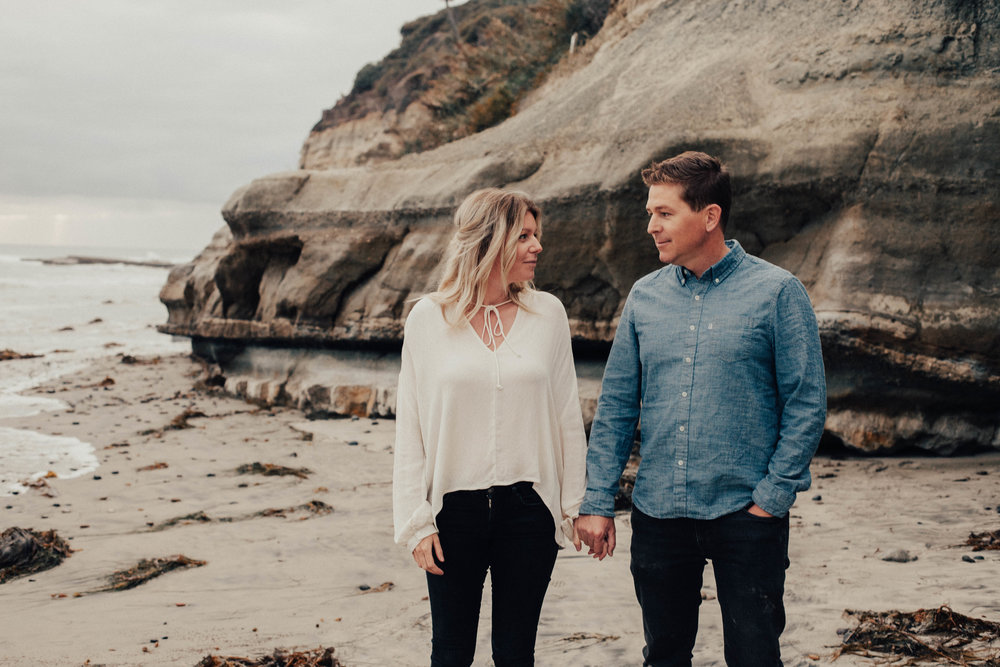 encinitas beach engagement