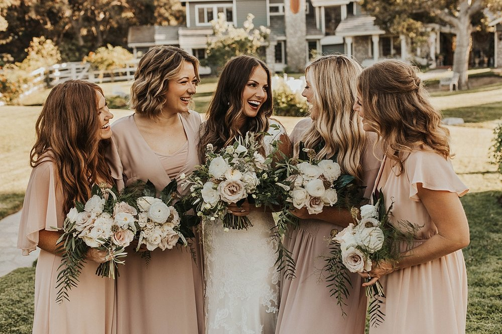 Blush and ivory bridesmaid inspiration