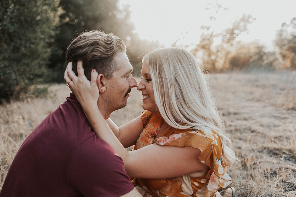 golden hour san diego engagement photos
