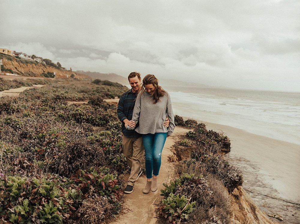 del mar cliffside engagement