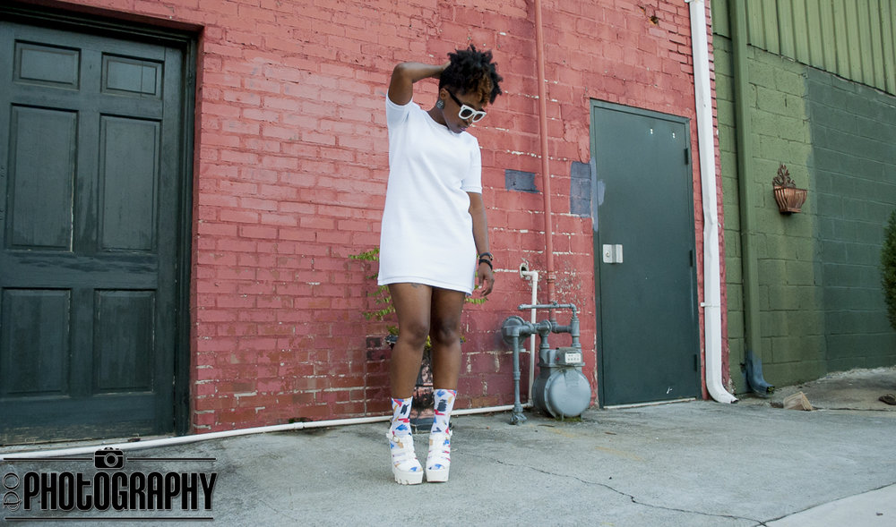 Atlanta style blogger, style blogger, blogger, Atlanta blogger, street style, all white, white after labor day, white dress, socks and sandals