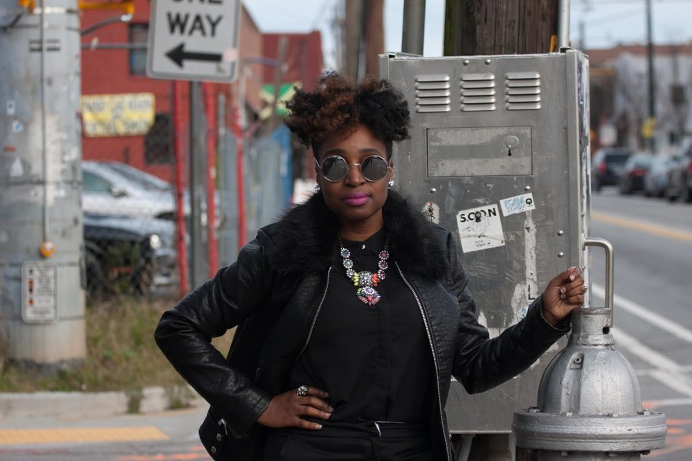Atlanta style blogger, style blogger, Atlanta blogger, all black, silver oxfords, black girls killing it, Target style, black girl fashion, black moto jacket, mens inspired, natural girls rock