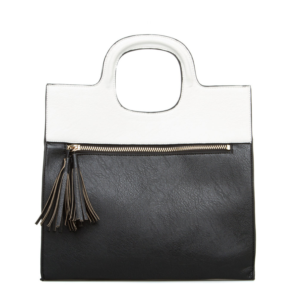 ShoeDazzle Black White Handbag
