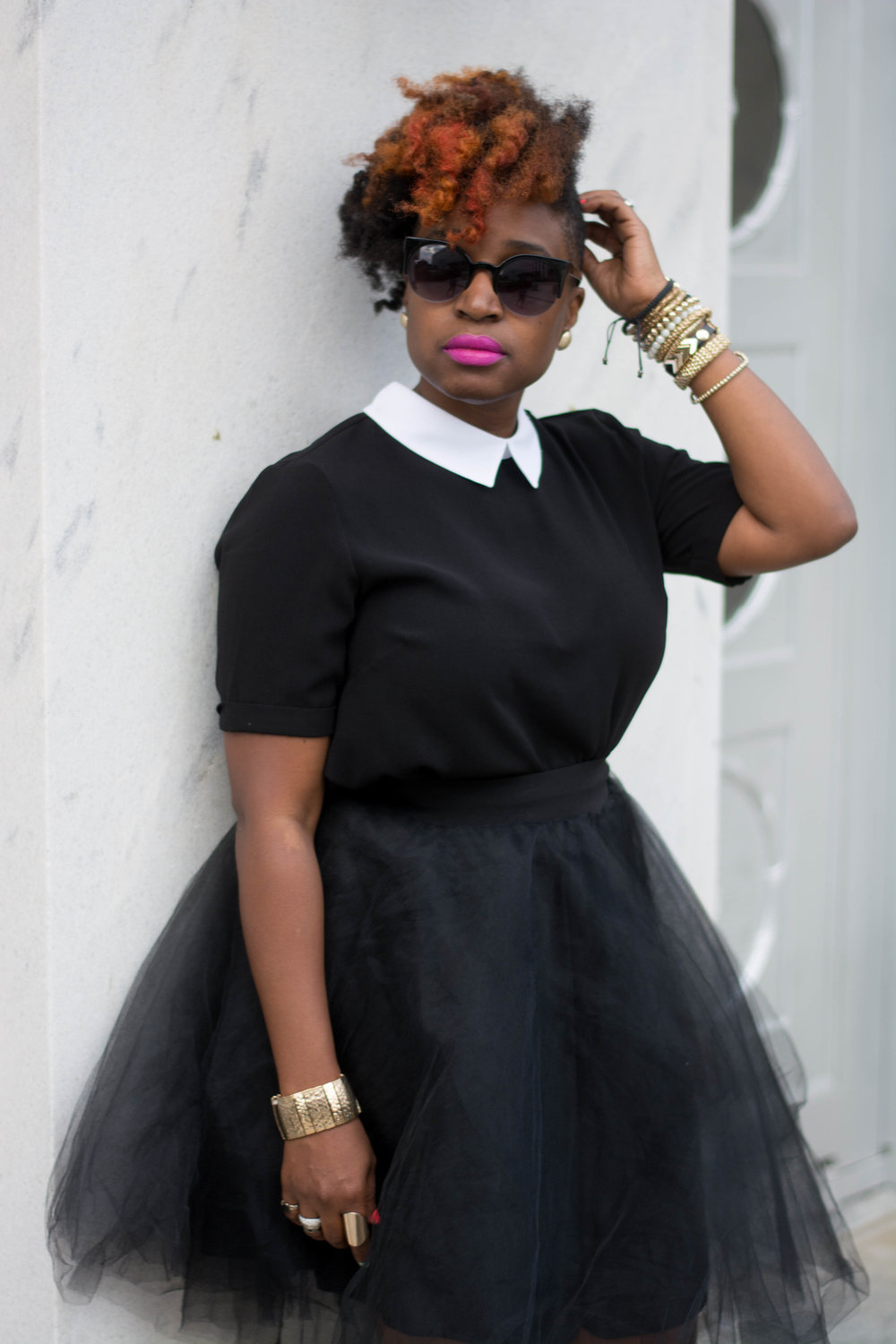 Atlanta Style Blogger, Melodie Stewart, The Style Klazit, Shoedazzle, Black Tulle Skirt, Atlanta Stylist