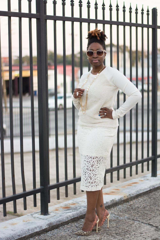 Melodie Stewart, The Style Klazit, Monochrome street style, Atlanta Stylist, Atlanta Style Blogger