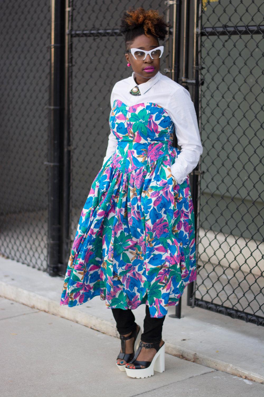 Melodie Stewart, The Style Klazit, Atlanta Blogger, Atlanta Stylist, Dress and Pants, Black blogger