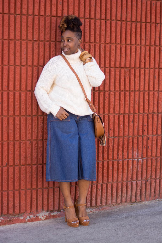Melodie Stewart, The Style Klazit, Atlanta style blogger, Vintage street style, Denim culottes, Wardrobe stylist