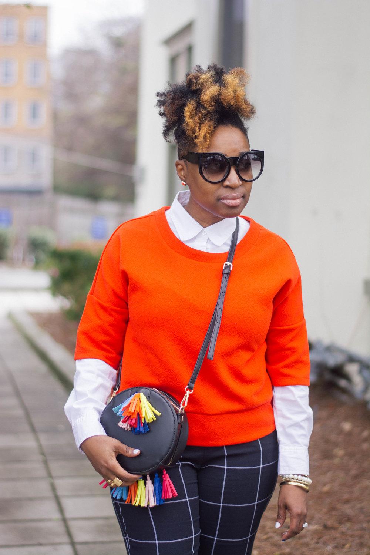 Melodie Stewart, The Style Klazit, Atlanta style blogger, windowpane pants, streetstyle, shoedazzle, Targetstyle
