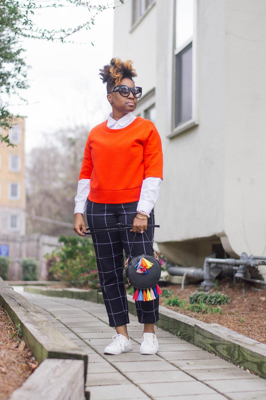 Melodie Stewart, The Style Klazit, Atlanta style blogger, windowpane print, streetstyle, shoedazzle, Targetstyle