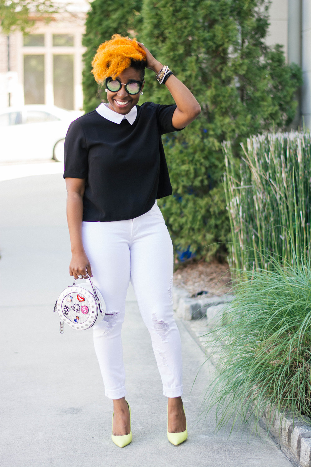Melodie Stewart, The Style Klazit, Atlanta Style Blogger, Street Fashion, Black and White outfit