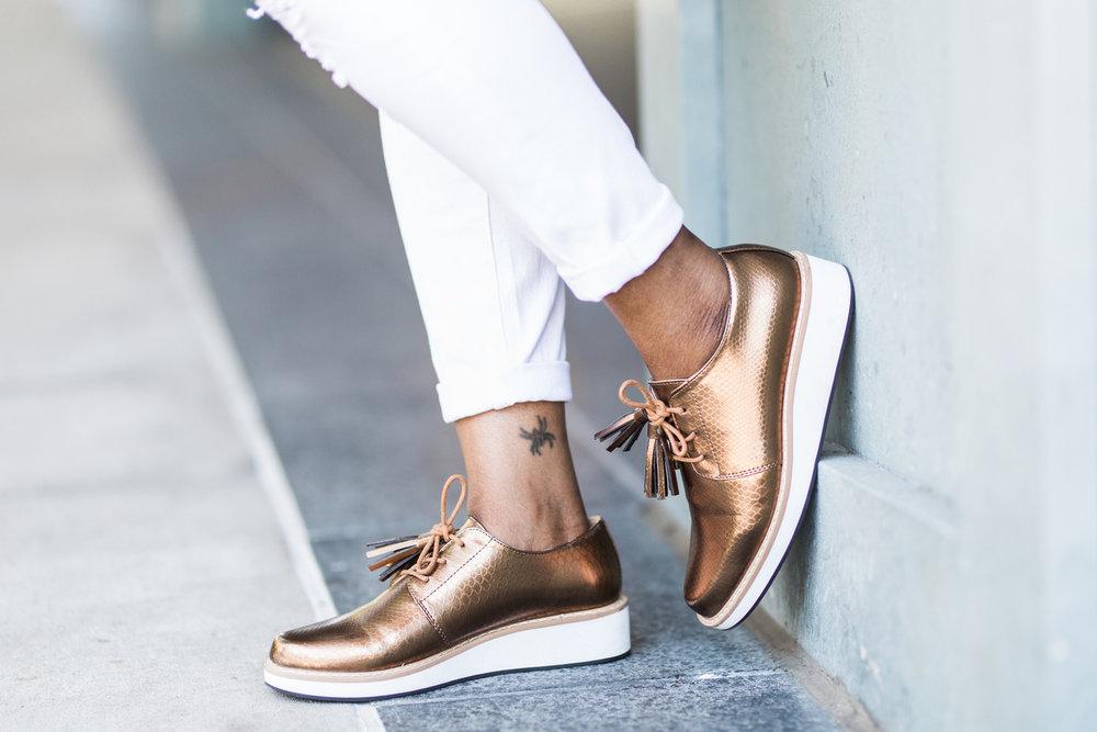 Melodie Stewart, The Style Klazit, Black and white street style, Atlanta style blogger, Shoedazzle, Justfabe, Shein