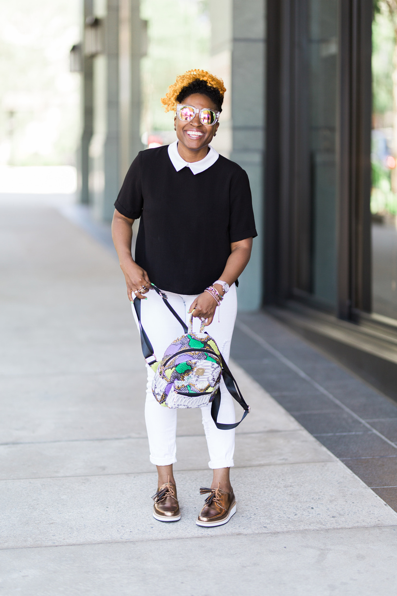 Melodie Stewart, The Style Klazit, Black and white street style, Atlanta style blogger, Shoedazzle, Justfabe, Shein