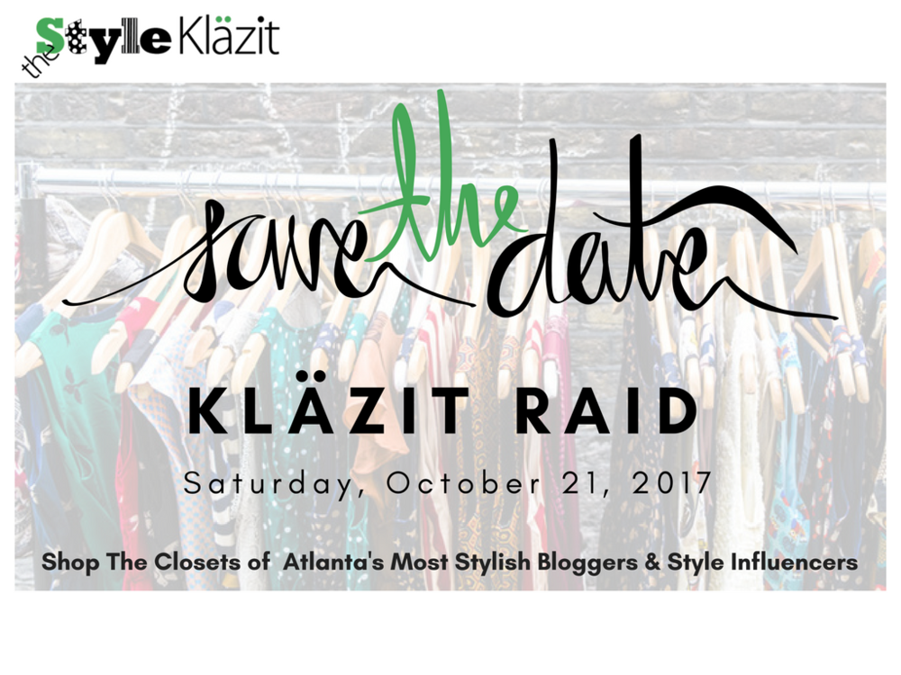 The Style Klazit, Melodie Stewart, Klazit Raid, Bloggers Closet Sale, Atlanta influencer, Atlanta Shopping event