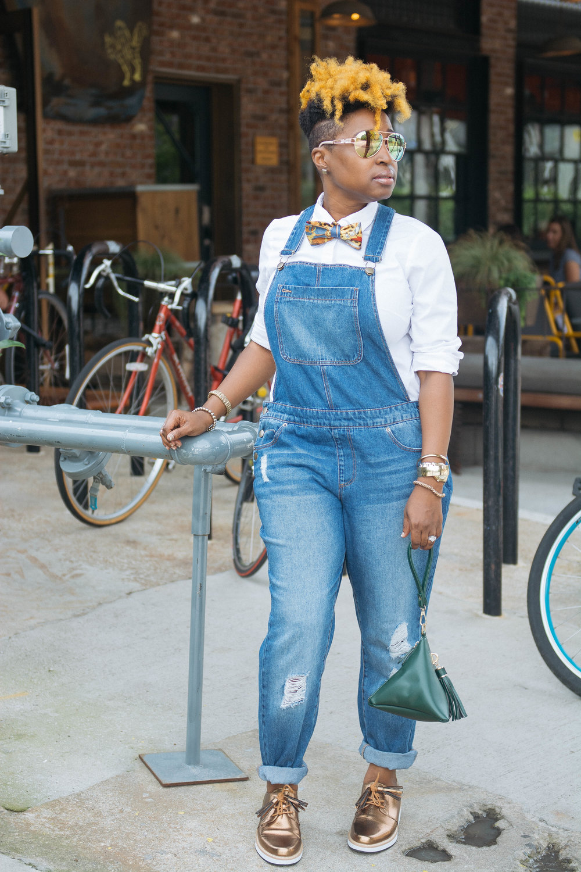 Melodie Stewart, The Style Klazit, Atlanta street style, Overalls, Krog Street