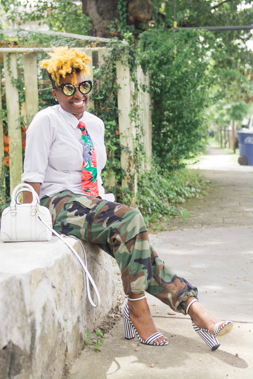 Melodie Stewart, The Style Klazit, Atlanta Style blogger, Fatigue street style, Mixed prints
