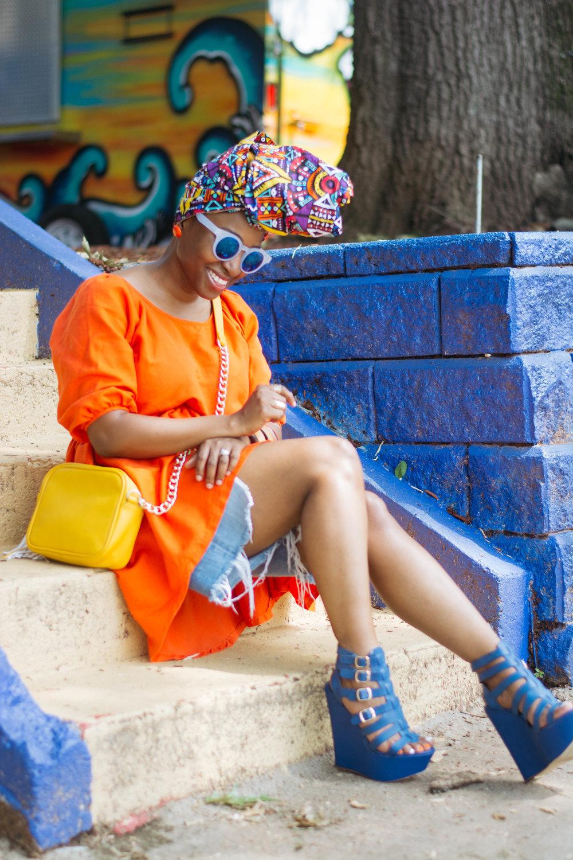 Atlanta personal stylist, top atlanta blogger, head wrap, atlanta street style