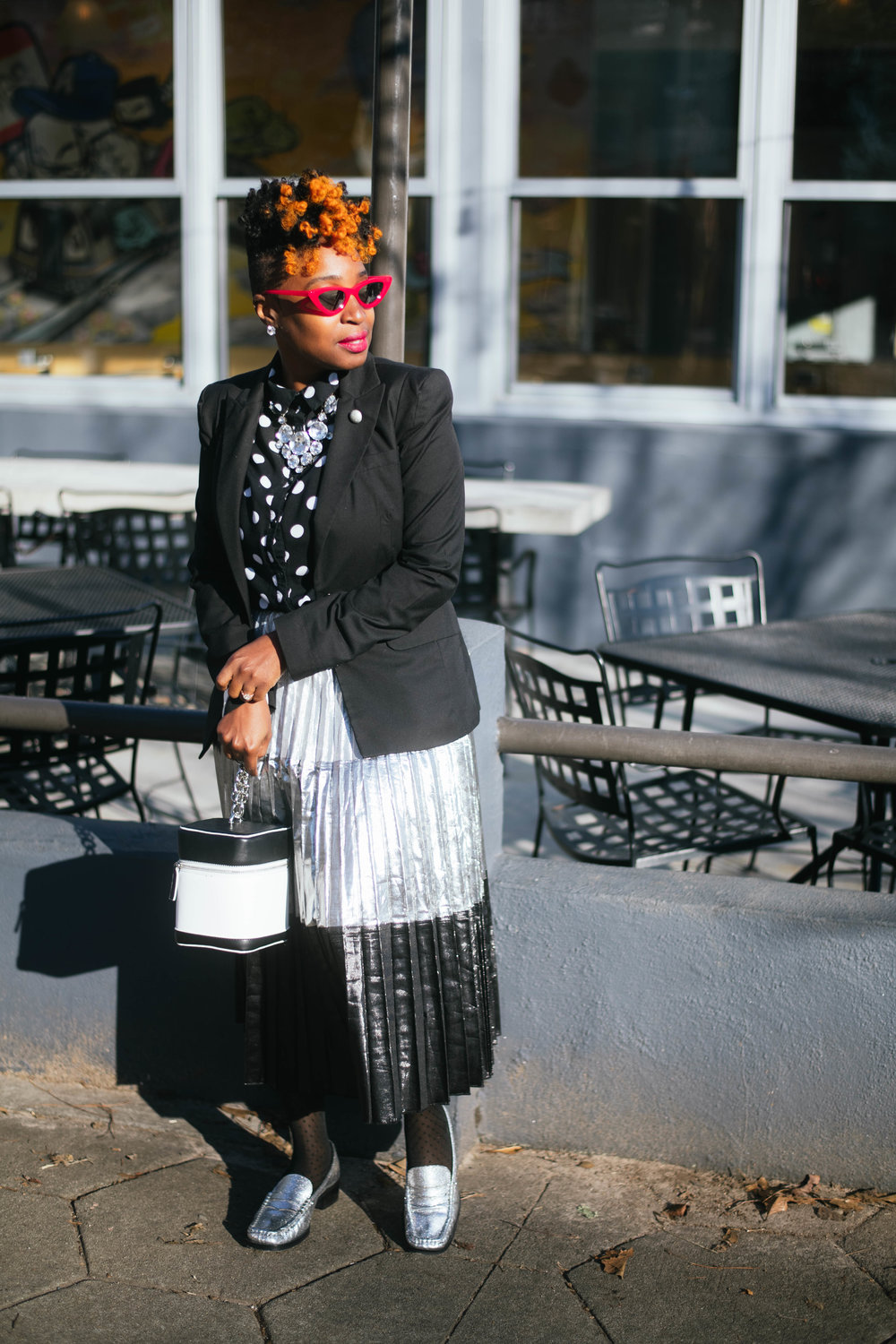 melodiestewart.com, black and white street style, Top Atlanta blogger