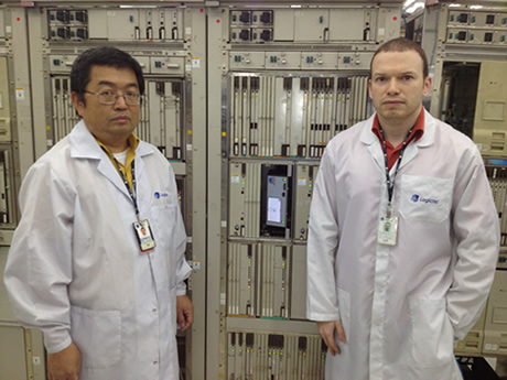 Left to right:  Takahiro Matsumoto and Fabiano Valdomiro dos Santos   Logictel Senior Technicians